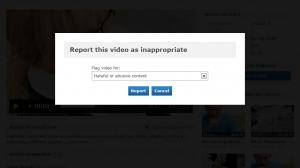 Report inappropriate behavior